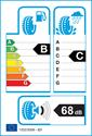 etichetta europea dei pneumatici per Yokohama G91F 225 60 17