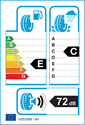 etichetta europea dei pneumatici per Yokohama W-DRIVE V902 A 225 45 17