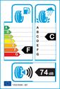 etichetta europea dei pneumatici per Yokohama W-Drive V902 A 225 55 17