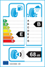 etichetta europea dei pneumatici per ztyre Z1 245 40 18 93 Y RUNFLAT XL